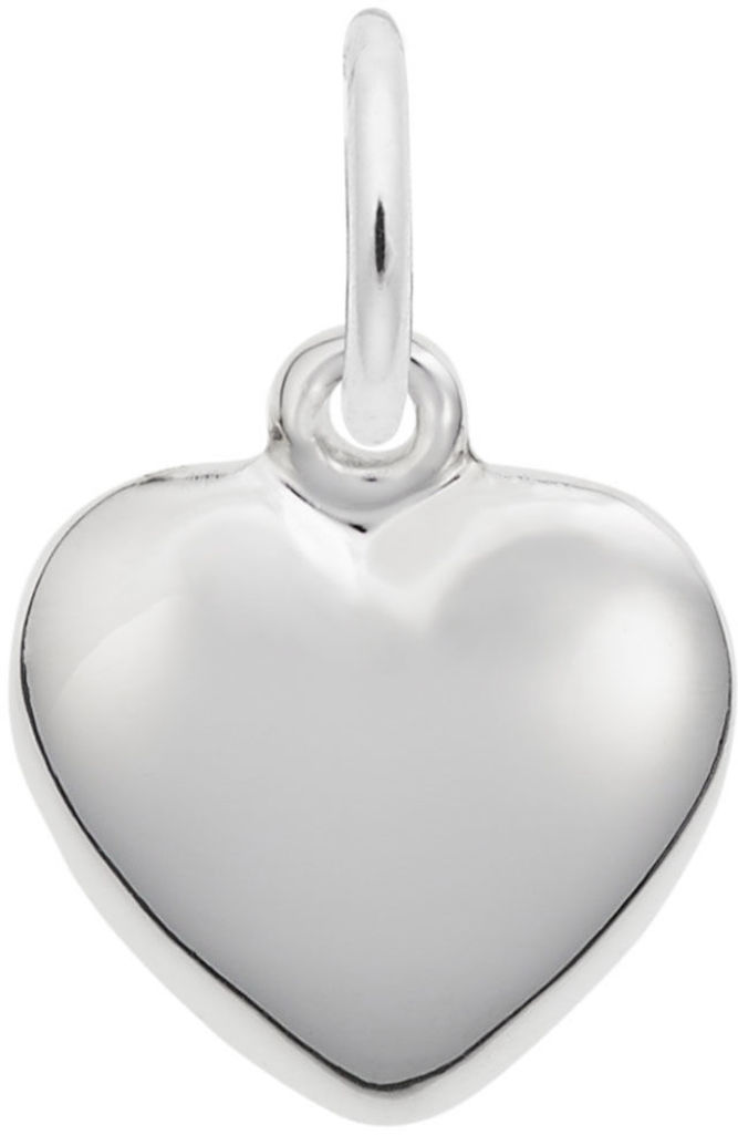 Small Puffy Heart Charm (Choose Metal) by Rembrandt