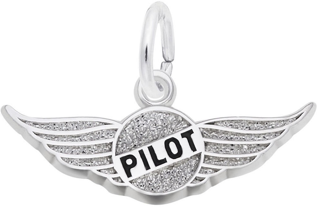 Pilots Wings Charm (Choose Metal) by Rembrandt