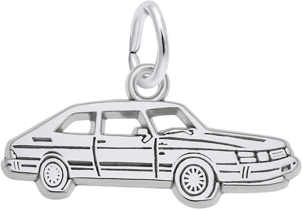 Flat Classic Luxury Car Charm (Choose Metal) by Rembrandt