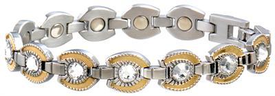 Sabona Ladies Gem Gold Horseshoe Magnetic- Ladies Western Bracelet