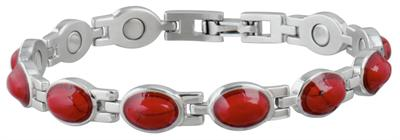 Sabona Lady Red Turquoise Magnetic - Ladies Executive Bracelet - DISCONTINUED