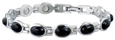 Sabona Lady Black Stone Magnetic - Ladies Executive Bracelet
