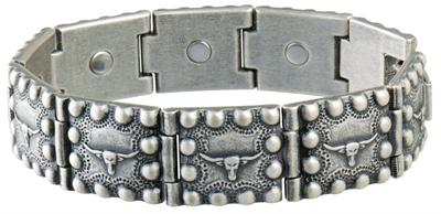 Sabona Steer Head Beaded Edge Magnetic - Western Bracelet