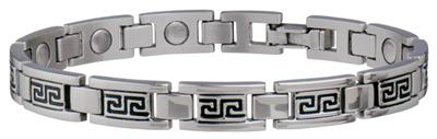 Sabona Lady Greek Key Stainless Magnetic - Ladies Executive Bracelet