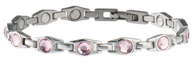 Sabona Lady Executive Pink Ribbon Magnetic - Ladies Executive Bracelet
