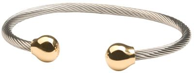 Sabona Professional Steel Twist Magnetic - Gold - Men's Executive Bracelet