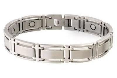 Sabona Executive Symmetry Silver Magnetic - Men's Executive Bracelet