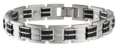 Sabona Executive Stainless-Rubber Magnetic - Men's Executive Bracelet