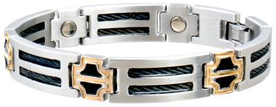 Sabona Black Cable Duet Magnetic - Men's Executive Bracelet - DISCONTINUED