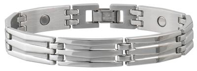 Sabona Silhouette Stainless Magnetic - Men's Executive Bracelet