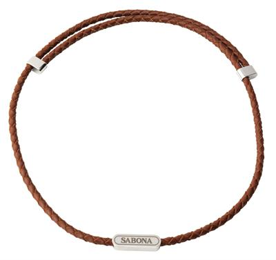 Sabona Leather Magnetic Necklace Brown