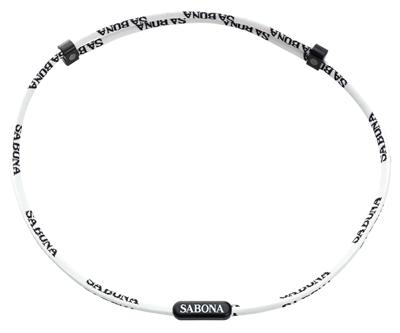 Sabona Sports Athletic Necklace White