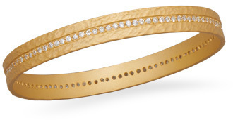 14 Karat Gold Plated Sterling Silver Eternity Bangle 925 Sterling Silver
