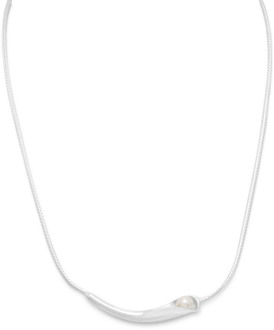 "16.5"" Calla Lily Necklace 925 Sterling Silver"