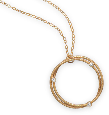 "16"" + 2"" 12/20 Gold Filled Necklace with Double Circle Design - DISCONTINUED"