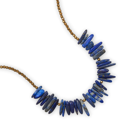 "16"" + 2"" 14/20 Gold Filled Necklace with Lapis"