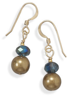 14/20 Gold Filled Glass Bead Earrings
