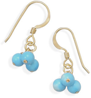14/20 Gold Filled and Turquoise Bead Earrings - DISCONTINUED