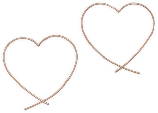 Copper Plated Sterling Silver Heart Earrings 925 Sterling Silver