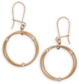 12/20 Gold Filled Double Circle Design Earrings - DISCONTINUED