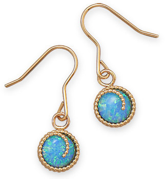 12/20 Gold Filled Synthetic Opal Earrings - DISCONTINUED