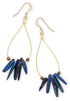 14/20 Gold Filled Lapis Earrings