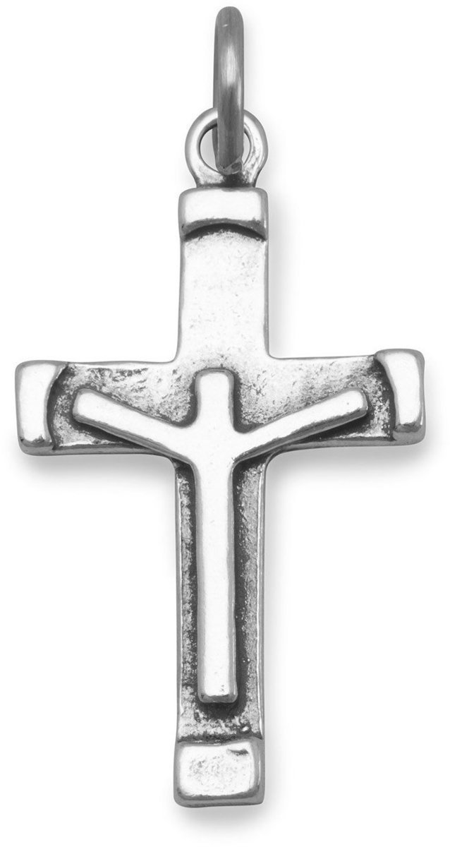 Crucifix Charm 925 Sterling Silver