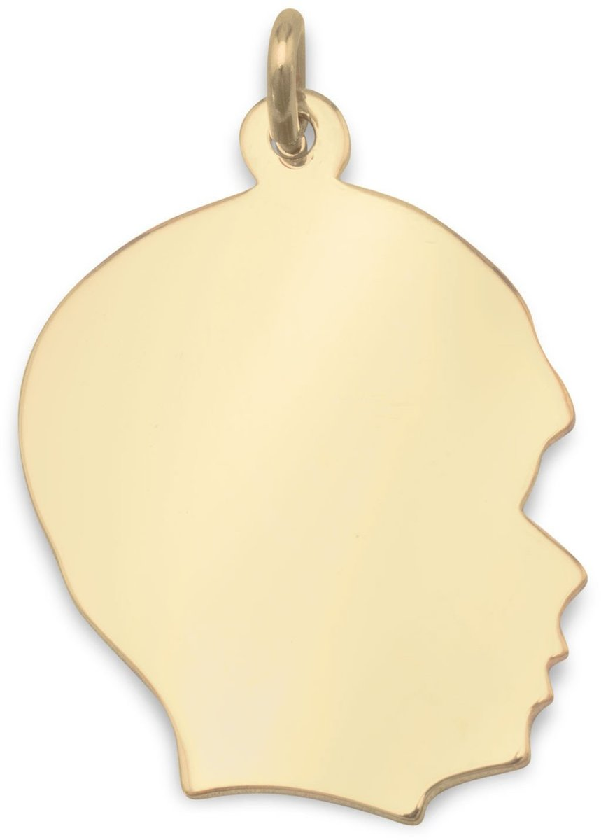 14/20 Gold Filled Engravable Boys Silhouette Pendant