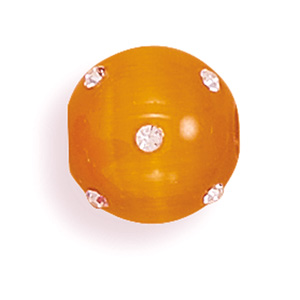 "14mm (9/16"") Orange Glass Cat's Eye Fireball- DISCONTINUED"