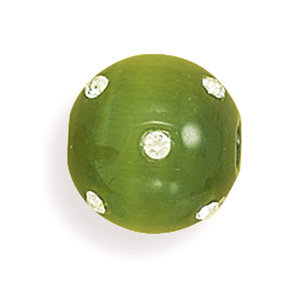 "14mm (9/16"") Green Glass Cat's Eye Fireball- DISCONTINUED"
