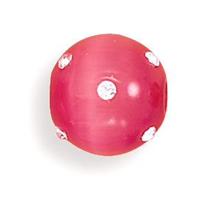 "14mm (9/16"") Pink Glass Cat's Eye Fireball- DISCONTINUED"