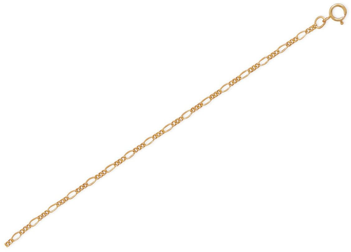 "9""+1"" 14/20 Gold Filled Figaro Chain Anklet"