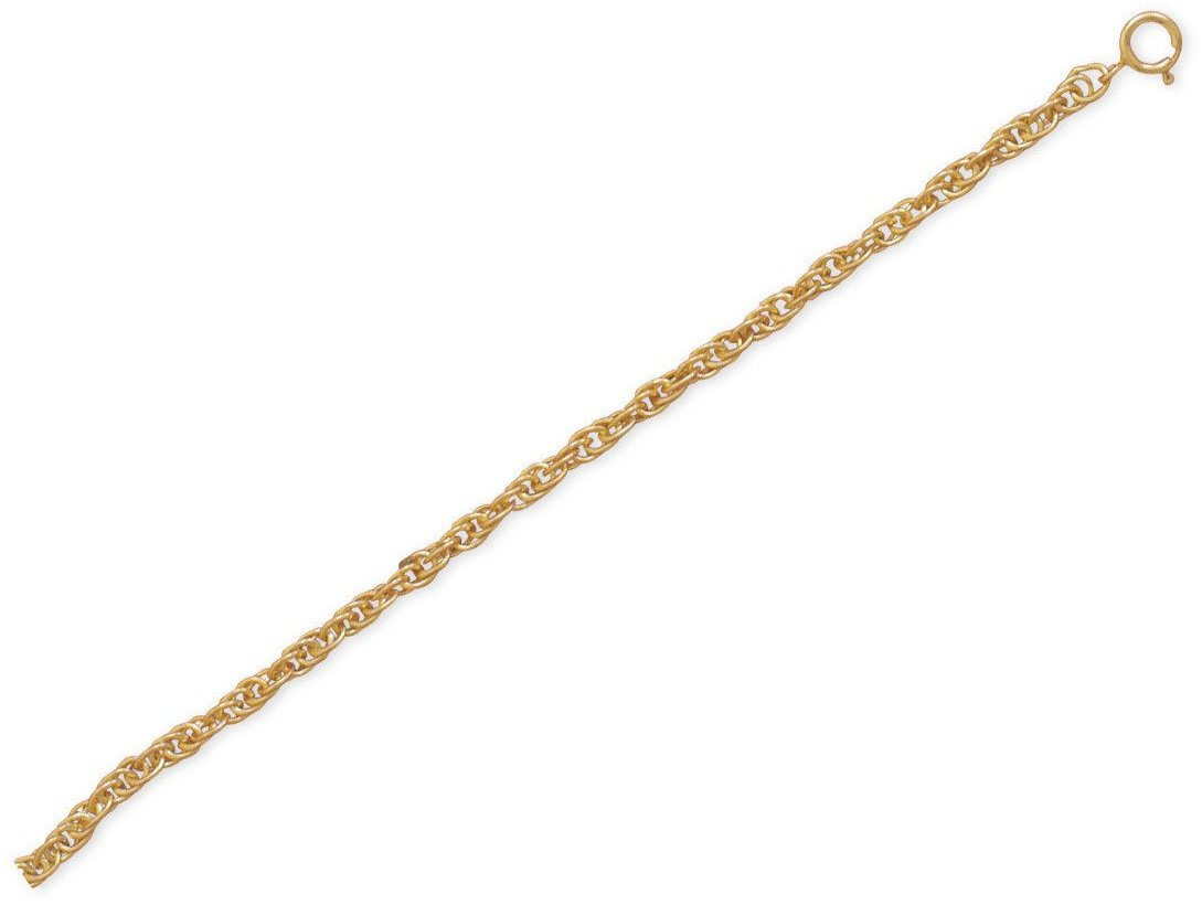 "9""+1"" 14/20 Gold Filled Rope Chain Anklet"