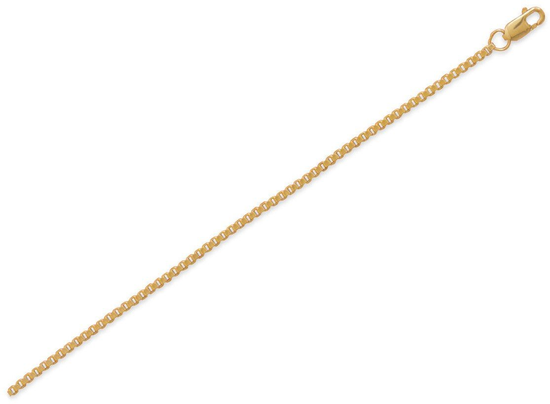 "9""+1"" 14/20 Gold Filled Box Chain Anklet"