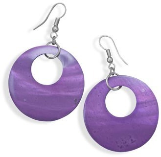 Purple Shell Fashion Earrings - DISCONTINUED