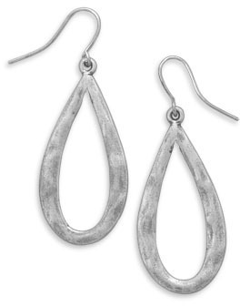 Hammered Pear Shape Fashion Earrings