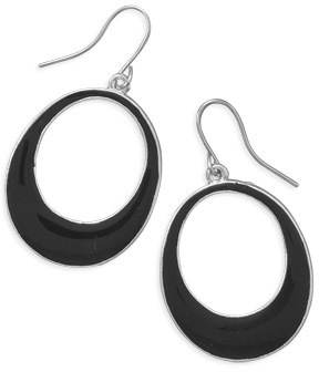 Black Epoxy Fashion Earrings