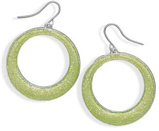 Green Sparkle Epoxy Fashion Earrings