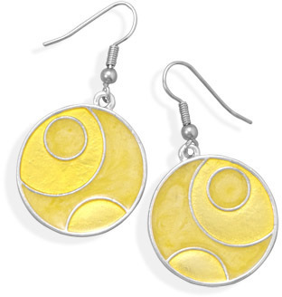Yellow Epoxy Fashion Earrings - DISCONTINUED