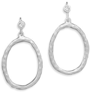 Silver Plated Matte Design Fashion Earrings