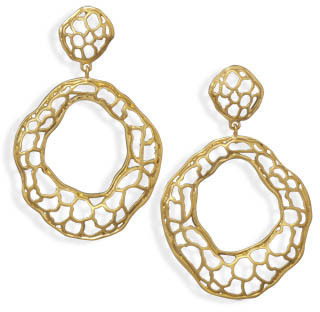 14 Karat Gold Plated Abstract Fashion Earrings