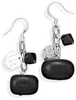 Silver Plated Multibead Fashion Earrings
