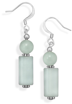 Silver Plated Amazonite Fashion Earrings