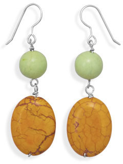 Magnesite Drop Fashion Earrings