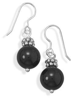 Black Onyx Fashion Earrings