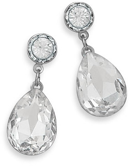 Faceted Crystal Drop Fashion Earrings - DISCONTINUED