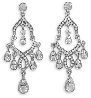 Long Drop Crystal Fashion Earrings