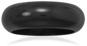 Black Wood Bangle