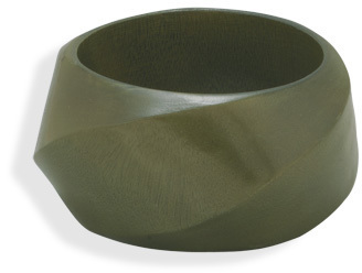 Green Wood Bangle