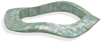 Mosaic Green Shell Bangle